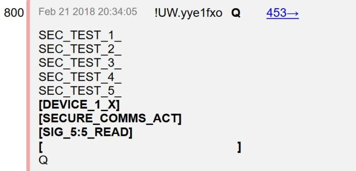 Q Anon Coded message