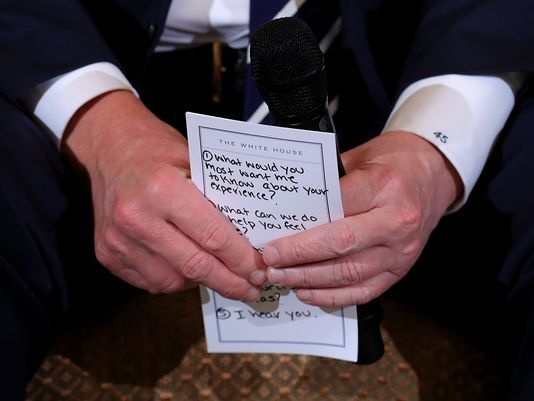 Trump Holds Notes