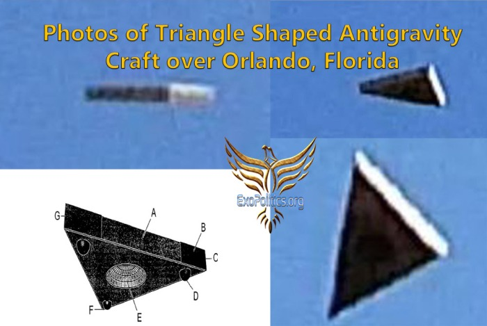 Photos of Triangle Shaped Antigravity Craft over Orlando, Florida