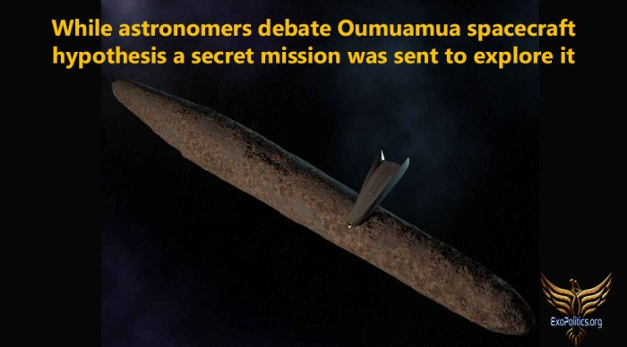 oumuamua space craft hypothesis and secret mission