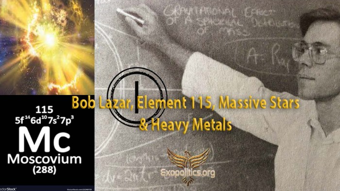 bob Lazar and Element 115