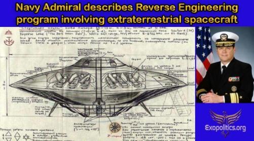 L'amiral de la marine décrit une technologie extraterrestre d'ingénierie inverse