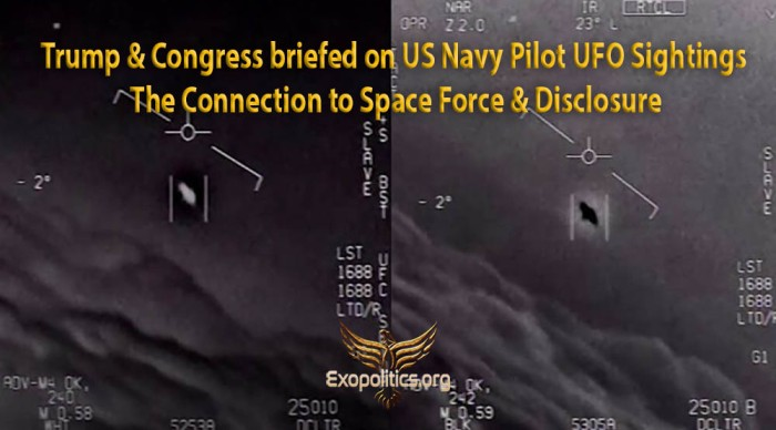 Trump and Congress Briefed on Navy pilots UFO sightings
