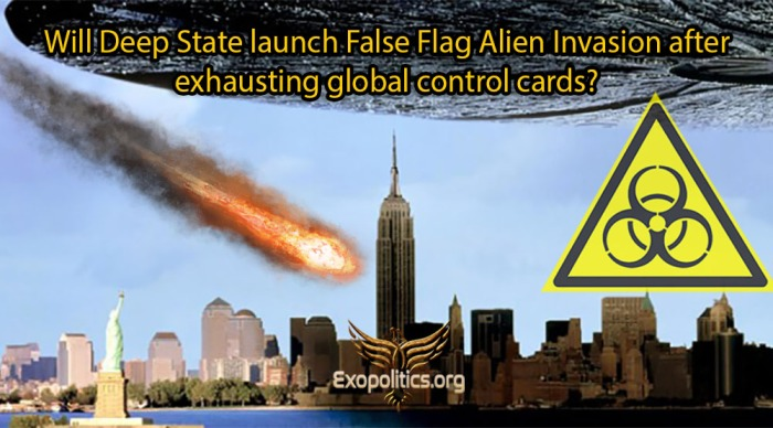 Deep State False Flag Alien Invasion Last Control Card