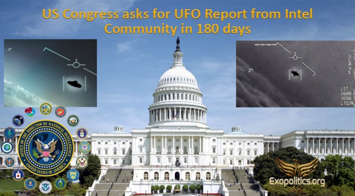 US Congress seeks UFO Report from Intel Community in 180 days
