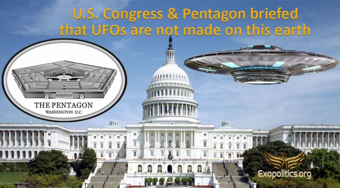 US Congress and Pentagon Briefed UFOs not of this world