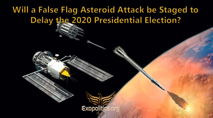 false flag asteroid attack